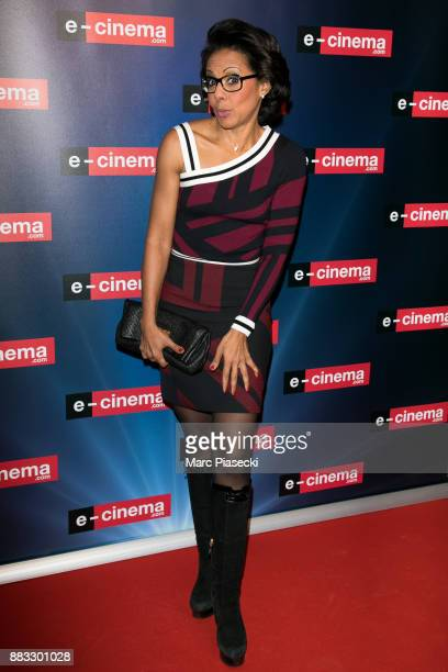 Audrey Pulvar attends the 'ECinemacom' launch party at restaurant 'L'Ile' on November 30 2017 in IssylesMoulineaux France