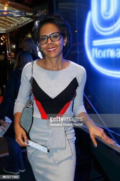Audrey Pulvar attends the 'Knock' Paris Premiere at Cinema UGC Normandie on October 16 2017 in Paris France