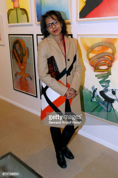 Audrey Pulvar attends the pascALEjandro L'Androgyne Alchimique Exhibition Opening at Azzedine Alaia Gallery on April 27 2017 in Paris France