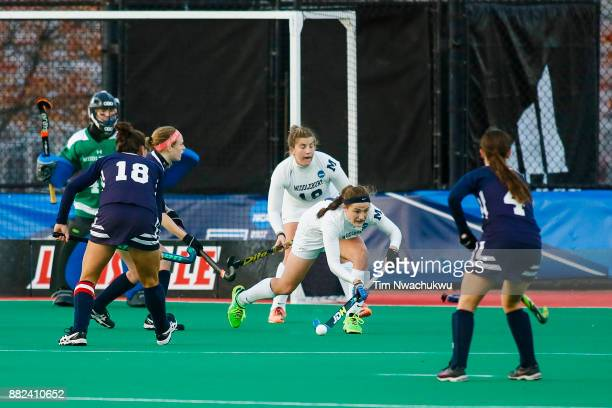 Audrey Quirk of Middlebury College controls the ball during the Division III Women's Field Hockey Championship held at Trager Stadium on November 19...