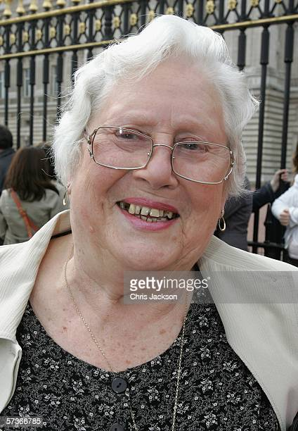 Audrey Strudwick from West Sussex is seen before the Queen's 80th Birthday Lunch on April 19, 2006 at Buckingham Palace in London, England. TRH Queen...