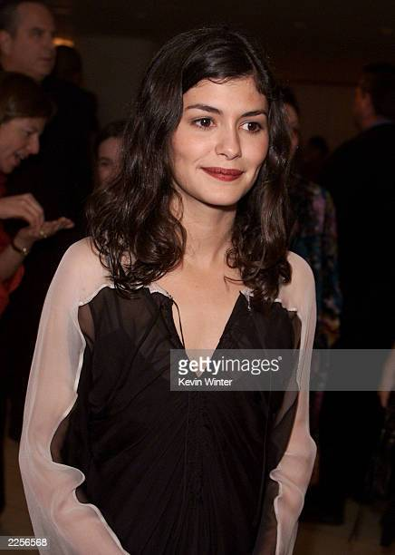 Audrey TauTou 'Amelie' at Miramax Films' preoscar party at the Mondrian Hotel in West Hollywood Ca Saturday March 23 2002 Photo By Kevin Winter/Getty...