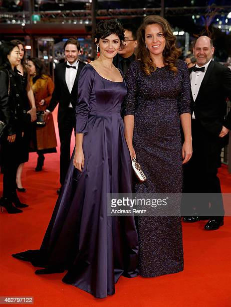 Audrey Tautou and Claudia Llosa attend the 'Nobody Wants the Night' Opening Night premiere during the 65th Berlinale International Film Festival at...