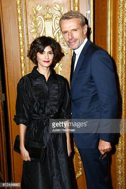 Audrey Tautou and Lambert Wilson attend the Lonchamp Cocktail as part of the Paris Fashion Week Womenswear Spring/Summer 2017 at Longchamp Boutique...