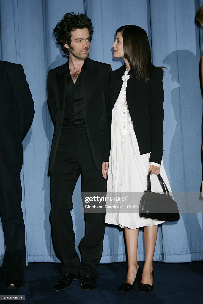Audrey Tautou and Romain Duris attend the premiere of 'Les Poupees Russes' in Paris.