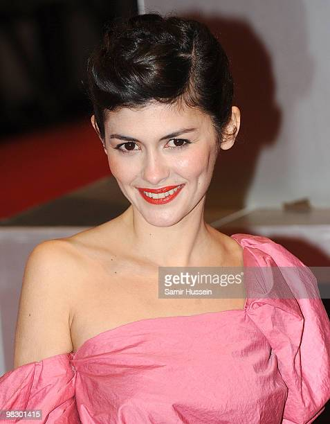 Audrey Tautou arrives at the Orange British Academy Film Awards 2010 at the Royal Opera House on February 21 2010 in London England