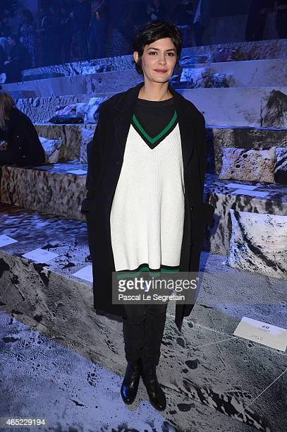 Audrey Tautou attends the HM show as part of the Paris Fashion Week Womenswear Fall/Winter 2015/2016 on March 4 2015 in Paris France