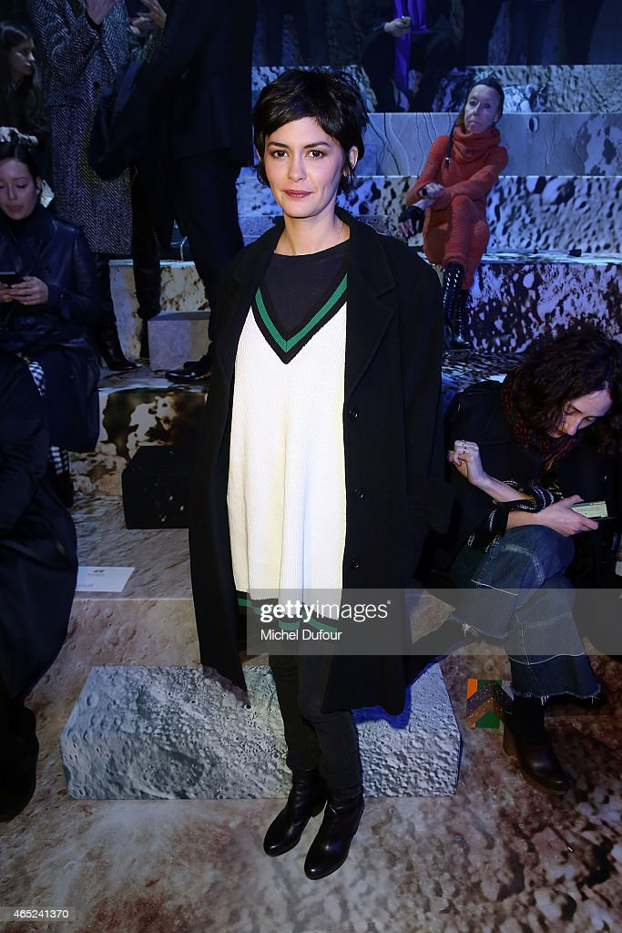 H&M : Front Row - Paris Fashion Week Womenswear Fall/Winter 2015/2016