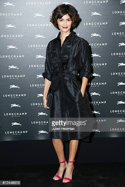 Audrey Tautou attends the Lonchamp Cocktail as part of the Paris Fashion Week Womenswear Spring/Summer 2017 at Longchamp Boutique St Honore on...