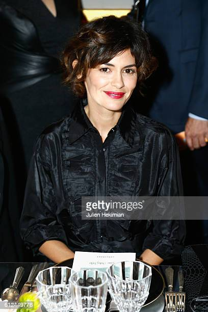 Audrey Tautou attends the Lonchamp dinner as part of the Paris Fashion Week Womenswear Spring/Summer 2017 at Longchamp Boutique St Honore on October...