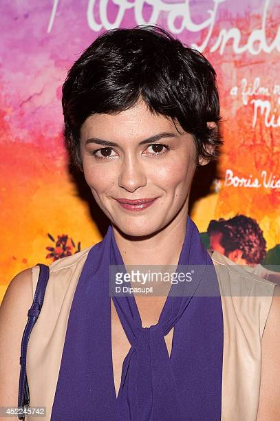 Audrey Tautou attends the 'Mood Indigo' New York premiere at Tribeca Grand Hotel on July 16 2014 in New York City