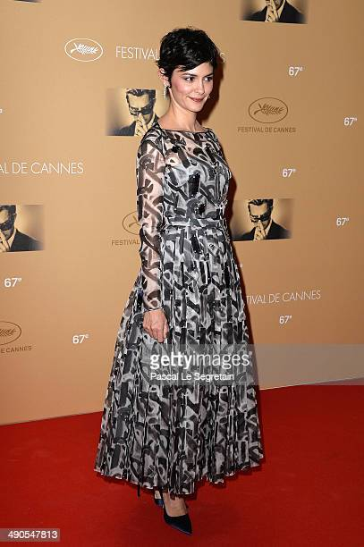 Audrey Tautou attends the Opening Ceremony Dinner Arrivals at the 67th Annual Cannes Film Festival on May 14 2014 in Cannes France