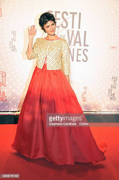 Audrey Tautou attends the 'Palme D'Or Winners dinner' during the 66th Cannes International Film Festival