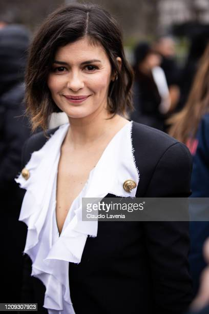 Audrey Tautou is seen outside Redemption fashion show on February 28 2020 in Paris France