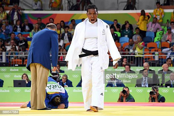Audrey Tcheumeo of France against Mayra Aguiar of Brazil during semi final on 78Kg during Judo on Olympic Games 2016 in Rio at Carioca Arena 2 on...