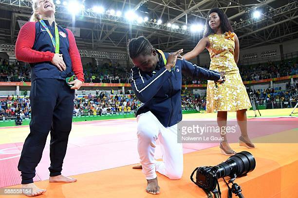 Audrey Tcheumeo of France with the silver medal on 78Kg during Judo on Olympic Games 2016 in Rio at Carioca Arena 2 on August 11 2016 in Rio de...