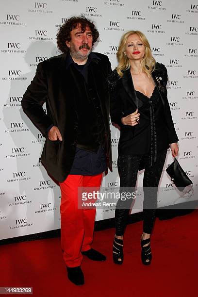 Audrey Tritto and Monty Shadow arrive at the exclusive Filmmakers Dinner during the Cannes International Film Festival hosted by Swiss watch...