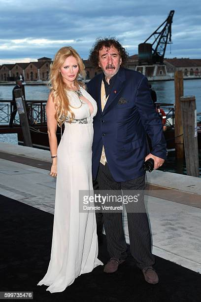 Audrey Tritto and Monty Shadows arrive to a gala dinner hosted by JaegerLeCoultre celebrating Reverso 85th Anniversary at Arsenale during the 73rd...