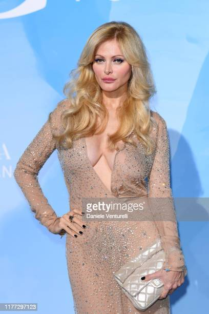Audrey Tritto attends the Gala for the Global Ocean hosted by HSH Prince Albert II of Monaco at Opera of MonteCarlo on September 26 2019 in...
