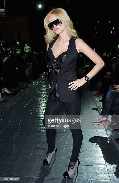 Audrey Tritto attends the Iceberg Autumn/Winter 2012/2013 fashion show as part of Milan Womenswear Fashion Week on February 24 2012 in Milan Italy