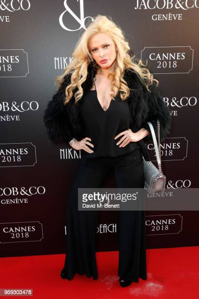 Audrey Tritto attends the Jacob Co Cannes 2018 party at Nikki Beach on May 16 2018 in Cannes France