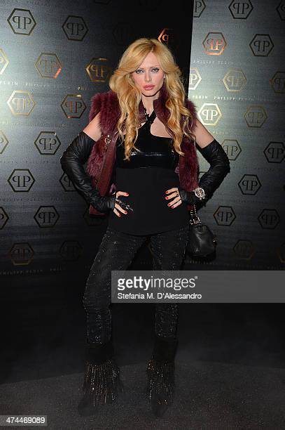 Audrey Tritto attends the Philipp Plein show as part of Milan Fashion Week Womenswear Autumn/Winter 2014 on February 23 2014 in Milan Italy