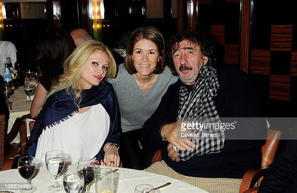 Audrey Tritto Monika Kern and Monty Shadow attend a private Laureus Awards predinner hosted by Georges Kern CEO of IWC Schaffhausen at Cipriani on...