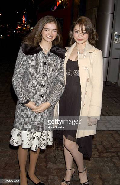 Audrey Twitchell and Sarah Hyland during Opening of New Musical 'Grey Gardens' at Playwrights Horizons Main Stage Theater in New York City New York...