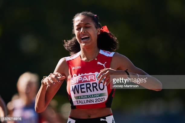 Audrey Werro of Switzerland competes in the Women's 800m Final during European Athletics U20 Championships Day 3 at Kadriorg Stadium on July 17, 2021...