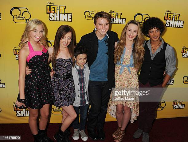 Audrey Whitby, Allisyn Ashley Arm, Doug Brochu, Grace Bannon and Brandon Smith attend Disney's 'Let It Shine' Premiere held at Directors Guild Of...