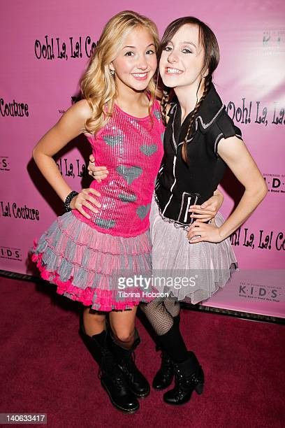 Audrey Whitby and Allisyn Ashley Arm attend the Tutus4Tots event at Strengthening Families Volunteers of America Los Angeles on March 3 2012 in Los...
