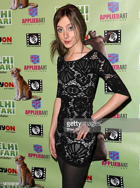 Audrey Whitby attends 'Delhi Safari' Los Angeles premiere at Pacific Theatre at The Grove on December 3 2012 in Los Angeles California