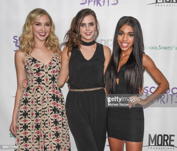 Audrey Whitby Tiffany Alvord and Teala Dunn attend School Spirits Premiere on October 6 2017 in Beverly Hills California