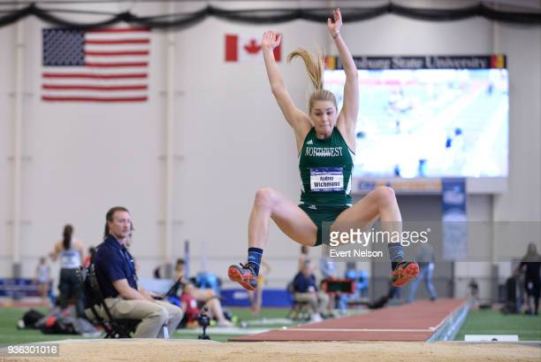 Audrey Wichmann of Northwest Missouri competes in the Long Jump in the Pentathlon during the Division II Men's and Women's Indoor Track Field...