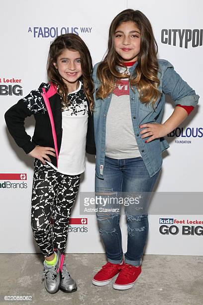 Audriana Giudice and Milania Giudice attend BKLYN Rocks presented by City Point, Kids Foot Locker, and Haddad Brands at City Point on November 9,...