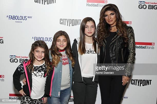 Audriana Giudice, Milania Giudice, Gabriella Giudice, and Teresa Giudice attend BKLYN Rocks presented by City Point, Kids Foot Locker, and Haddad...