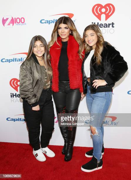 Audriana Giudice, Teresa Giudice and Milania Giudice attend Z100's Jingle Ball 2018 at Madison Square Garden on December 7, 2018 in New York City.