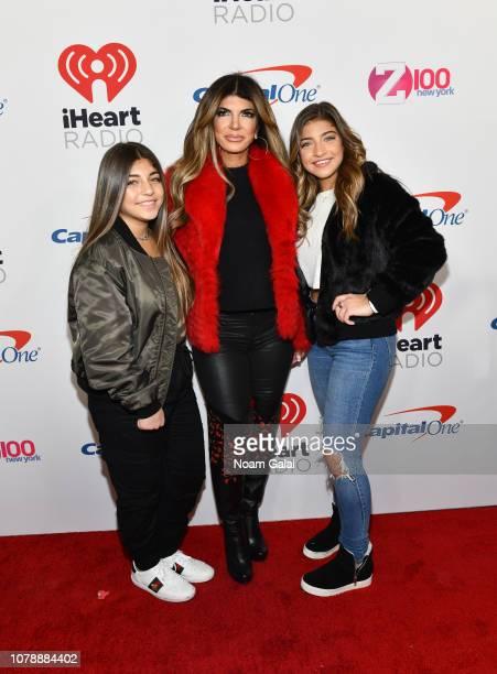 Audriana Giudice, Teresa Giudice and Milania Giudice attend Z100's Jingle Ball 2018 at Madison Square Garden on December 07, 2018 in New York City.