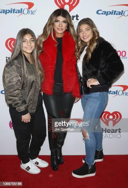 Audriana Giudice, Teresa Giudice and Milania Giudice pose in the press room during Z100's Jingle Ball 2018 at Madison Square Garden on December 7,...