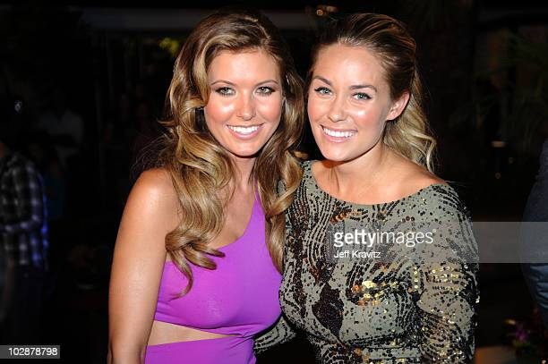 Audrina Partridge and Lauren Conrad attends MTV's The Hills Live A Hollywood Ending Series Finale at The Roosevelt Hotel on July 13 2010 in Hollywood...
