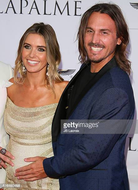 Audrina Patridge and Corey Bohan attend LaPalme Magazine's Spring Affair launch party at the Room on March 18 2016 in Los Angeles California
