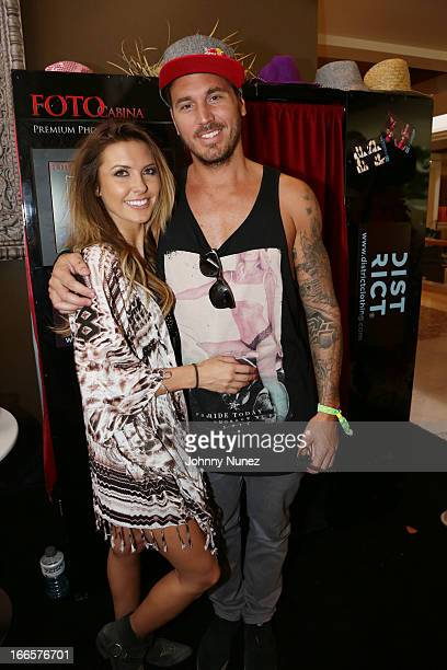 Audrina Patridge and Corey Bohan attend the Hard Rock Music Lounge Women Who Rock Hosted by Kelly Rowland Day 2 at Hard Rock Hotel Palm Springs on...
