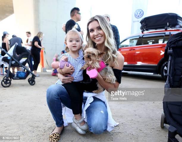 Audrina Patridge and daughter Kirra Max Bohan and dog Lady at the Ollie Pupsgiving Gathering at Platform LA on November 18 2017 in Los Angeles...