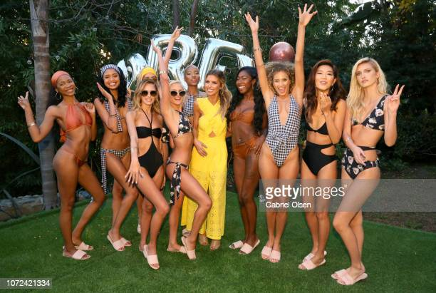 Audrina Patridge and models attend the PREY SWIM 'Summer in December' Fashion Show hosted by Audrina Patridge at the residence of Jonas Tahlin CEO Of...