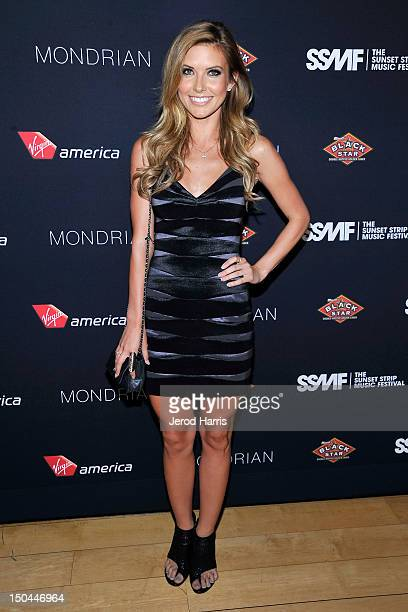 Audrina Patridge arrives at the 5th Annual Sunset Strip Music Festival official VIP party sponsored by Black Star Beer and Virgin America at Sky Bar...