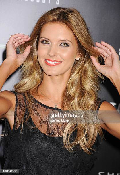 Audrina Patridge arrives at the Los Angeles Premiere of 'Total Recall' at Grauman's Chinese Theatre on August 1 2012 in Hollywood California