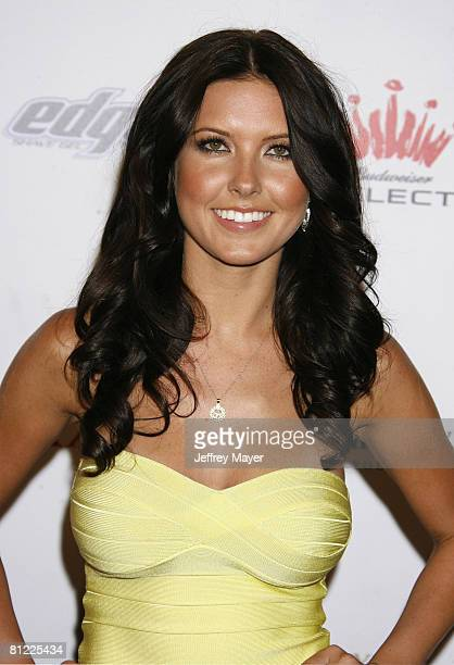 Audrina Patridge arrives at the VH1 Maxim Hot 100 celebrity party on May 21 2008 at Paramount Studios in Los Angeles California