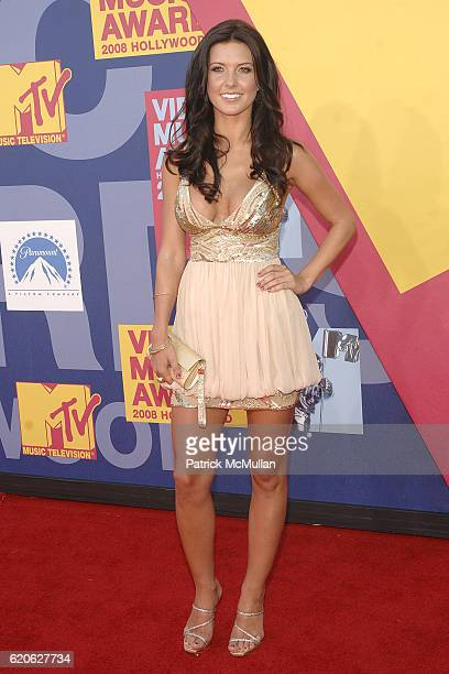 Audrina Patridge attends The 2008 MTV Video Music Awards Arrivals at Hollywood on September 7 2008