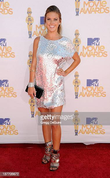 Audrina Patridge attends the 2010 MTV Movie Awards at the Gibson Amphitheatre on June 6, 2010 in Universal City, California.
