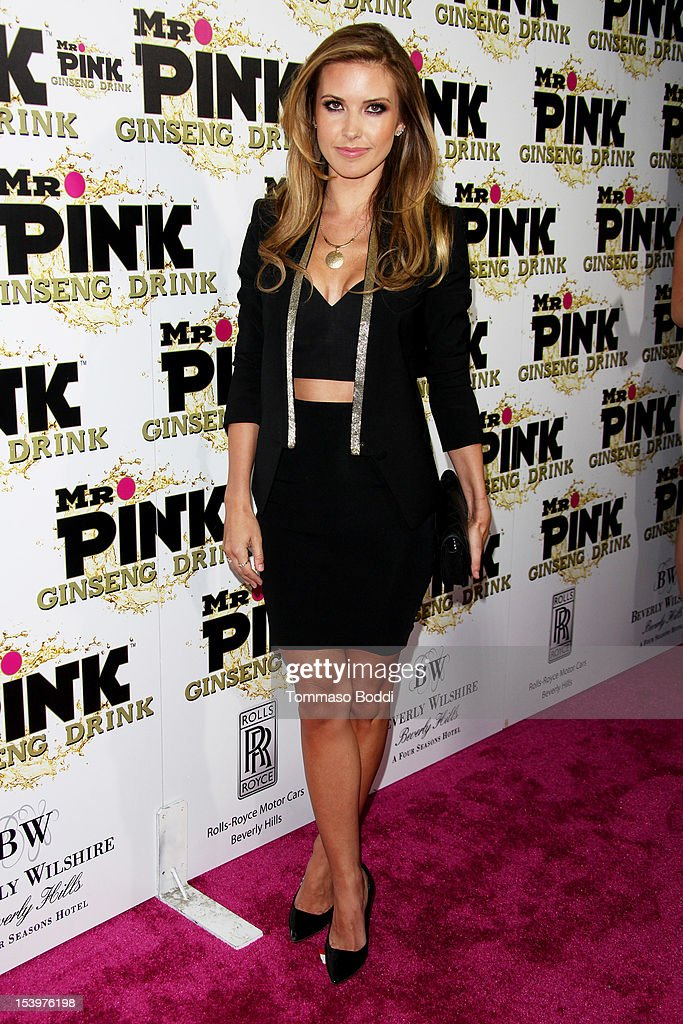 Audrina Patridge attends the Mr. Pink ginseng drink launch party held at the Regent Beverly Wilshire Hotel on October 11, 2012 in Beverly Hills, California.